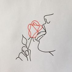 Image in art collection by ellen luttje on We Heart It - Dessins Minimalistes - Art Drawings Sketches, Tattoo Sketches, Tattoo Drawings, Cute Tattoos, Small Tattoos, Tatoos, Love Quotes Photos, Outline Art, Art Inspo