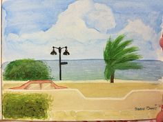 #worldwatercolormonth #watercolor #landscape #florida #ftlauderdale really happy with this. Probably my first proper landscape that I have liked