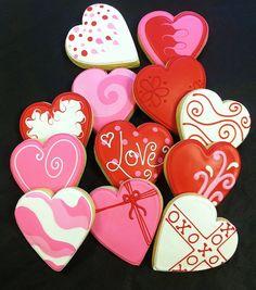 Valentin coeur faveurs de Cookie par ClawsonCookies sur Etsy