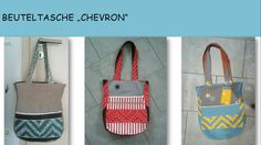 lillesol & pelle Schnittmuster/ pattern: Schultertasche Chevron