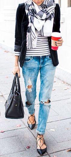 Stripes + tartan.