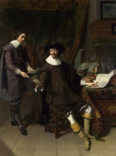 """classic-art: """"Thomas de Keyser, Portrait of Constantijn Huygens and his Clerk"""" Constantijn Huygens (September 4, 1596 – March 28, 1687), was a Dutch Golden Age poet and composer. He was secretary to two Princes of Orange: Frederick Henry and William..."""