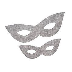 The Silver Mardi Gras Mask Cutouts features two sizes of silver Mardi Gras masks with glitter. You will receive twelve masks per package.