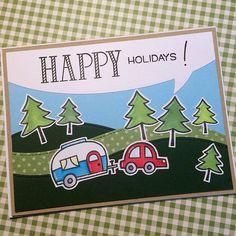 Happy Holidays!#lawnfawn #card#cards#handmadecards#copicciao#cardmakers#cardmaking#cardmakingitalia | by laurafranzoni