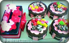 Idul Fitri Gift. Set of Tissue Box and Cookies Jars. Felt. Handmade.