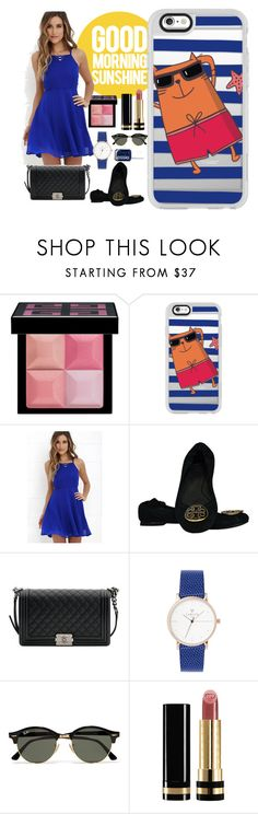 """Good Morning Sunshine "" by casetify ❤ liked on Polyvore featuring Givenchy, Casetify, LULUS, Tory Burch, Chanel, Ray-Ban, Gucci and Essie"