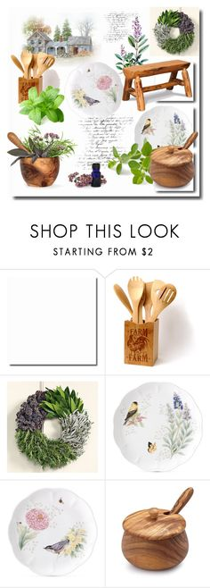 """Herbs & Wood"" by jana-masarovicova ❤ liked on Polyvore featuring interior, interiors, interior design, home, home decor, interior decorating, Williams-Sonoma, Lenox, Sur La Table and DutchCrafters"