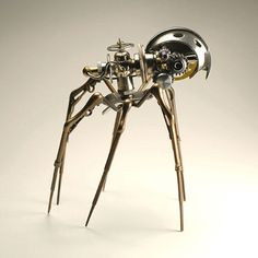 """Wired: CULTURE  :  ART     Creepy Cyberpunk Fantasies Come to Life By Jenna Wortham      01.28.08 STEAM INSECT, 2007 Hoping to fuse his love of steam engines with the complexity of insects, Conte aimed to reproduce the visual appeal and elaborate mechanics of both with this model. He admits that the Steam Insect is currently his favorite sculpture of the bunch, largely because he """"just loves the design.""""  """"I wanted to build a model that captures both the intricate mechanics of an insect, and…"""