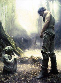 Star Wars V: The Empire Strikes Back. Luke and Yoda.