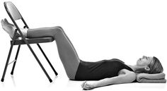 Chair Supported Relaxation Pose    Gently Nudges the Lower Back to Open Up, Broaden and Release, While Simultaneously Releasing the Hips and Groins and Softening the Belly. It is Easy to Do and a Great Way to Prepare for Sleep and There Really Isn't a Better Pose for Someone with Back Pain.  #Yoga