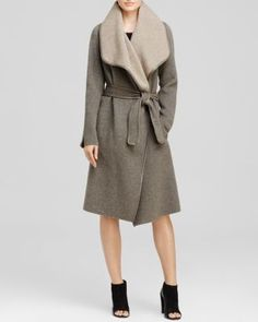 Vince Coat - Leather Trim Belted Wrap | Bloomingdale's $596.25