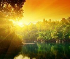 Beautiful Sunset in Thailand.