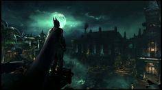 batman arkham asylum game batman photos  | Batman looking out over the asylum.