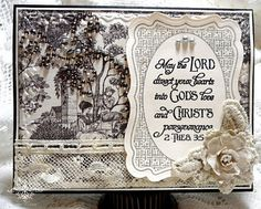 Wedding Scripture Card by Jan at Re-Creations