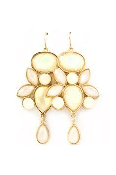 Danica Chandelier Earrings in Illume Ivory