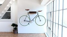 Hang bike for decorative wall 600x337 How To Add A Refined Touch To Your Bachelor Pad: Part One