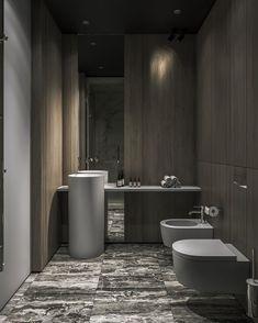 studioThe Definitive Source for Interior Designers Contemporary Bathroom Designs, Bathroom Design Luxury, Diy Bathroom Decor, Small Bathroom, Bathroom Ideas, Wc Design, Guest Toilet, Bathroom Toilets, Washroom