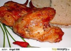 Kuřecí křidýlka podle Viktora Preisse recept - TopRecepty.cz Czech Recipes, Ethnic Recipes, Tandoori Chicken, Poultry, Grilling, Healthy Recipes, Treats, Cooking, Essen