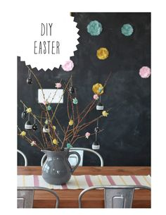 We think that this DIY Easter is so adorable and easily duplicated.