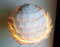 Last Light Lamp by Michelle Whale made from 300 outdated business cards