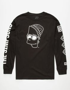 NEFF x The Simpsons Steezy Bart Mens T-Shirt 263211100 | L/S & Baseball Tees