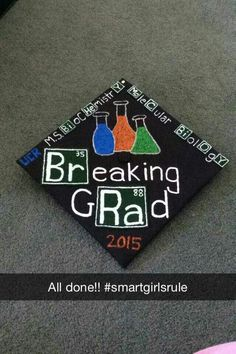The cap I made for my sister who is graduating with a M.S. in Biochemistry and Molecular Biology!!! All this cost about $10.