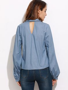 Material: 100% Cotton Color: Blue Pattern Type: Plain Collar: Cold Shoulder Style: Casual, Cute, Sexy Type: Equipment Decoration: Zipper Sleeve Length: Long Sleeve Fabric: Fabric has no stretch Season: Spring, Fall Shoulder(Cm): XS:22.8cm, S:23.8cm, M:24.8cm, L:25.8cm Bust(Cm): XS:92.5cm, S:96.5cm, M:100.5cm, L:104.5cm Length(Cm): XS:36.5cm, S:37.5cm, M:38.5cm, L:39.5cm Sleeve Length(Cm): XS:66cm, S:67cm, M:68cm, L:69cm Bicept Length(Cm): XS:33cm, S:34cm, M:35cm, L:36cm Cuff(Cm): XS:23cm…
