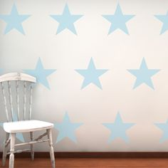 Large Stars Decorative wall stickers by NutmegWallStickers on Etsy, £36.00