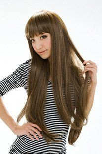 GOOACTION OL Style Long Women Hair Wig Natural as Real Full Wigs