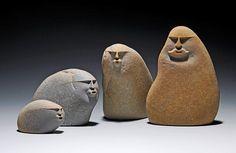 Sand Blasted Lake Stone Sculptures