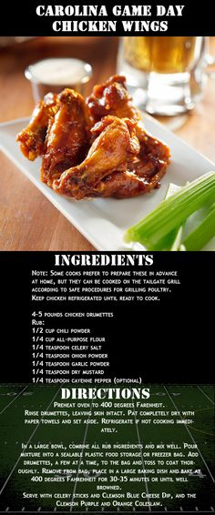 "Carolina Game Day Chicken Wings Recipe | ""Foot and Football: Tailgating Around the South"" 