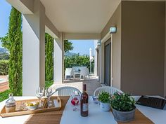 Rethymno villa rental - Enjoy al fresco dining with your whole family!