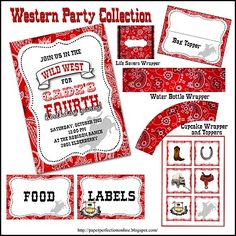 Paper Perfection: Western / Cowboy Party Printables