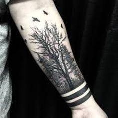 40 creative forest tattoo designs and ideas tattoos dövme fi Arm Tattoos For Guys, Forearm Tattoo Men, Trendy Tattoos, Forearm Tattoos, Unique Tattoos, Body Art Tattoos, Tribal Tattoos, Tattoos For Women, Forest Forearm Tattoo