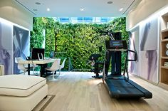 Run Personal - Technogym Store NYC Love the green plant wall!