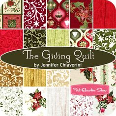 The Giving Quilt Fat Quarter Bundle Jennifer Chiaverini for Red Rooster Fabrics