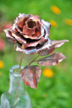 Hand forged copper rose found on etsy! Perfect gift for mom and rose lovers!