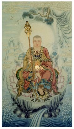 Chinese Buddhist Art and Statues with beautiful lines and vibrant colours. Giving the feeling of calm and serenity. Bodhisattvas and Warrior Monks. posted by Sifu Derek Frearson Lotus Buddha, Art Buddha, Buddha Kunst, Buddha Painting, Gautama Buddha, Buddha Buddhism, Little Buddha, Zen Art, Japan Art