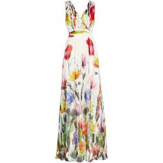 Rental Badgley Mischka Painted Petals Maxi Dress