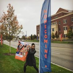 Bringing it home for #BroncoNationWorldwide our #BroncosHome featured student Kennedy gets meta with her poster on the street where tomorrow's #BoiseState Homecoming Parade starts!  #Repost @kennedykaya I clearly have no school spirit #posterchild #BRONCOSHOME