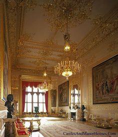 state room, Windsor Castle, Windsor, Berkshire, England - www.castlesandmanorhouses.com