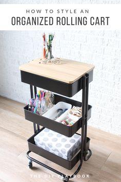 Ikea Raskog Cart, Ikea Cart, Guest Room Essentials, Diy Playbook, Ideas Para Organizar, Room Organization, Organizing Life, Diy Home Decor, Bedroom Decor
