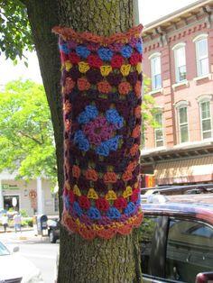 Yarn-bombing!