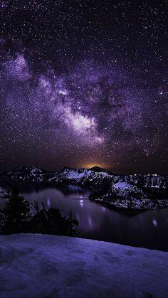 "mstrkrftz: ""Crater Lake, Oregon, by Glen Murray"" Milky way Beautiful Sky, Beautiful Landscapes, Beautiful World, Beautiful Places, Landscape Photography, Nature Photography, Scenic Photography, Night Photography, Landscape Photos"
