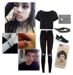 """Girl version of Cody Herbinko aka murderized"" by xxmia-hood-xx ❤ liked on Polyvore featuring Boohoo, Tasha, NIKE and Casetify"