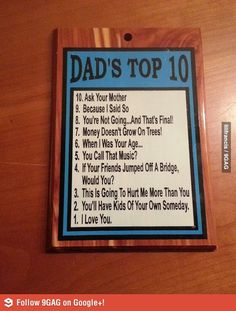 Dad's top 10