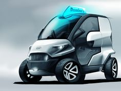 Domino's pizza delivery car concept by Anej Kostrevic (Local Motors Design Competition)