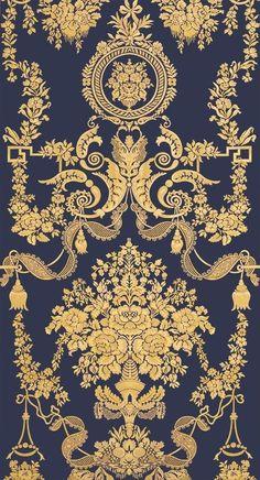 Art Deco Wallpaper, Chinoiserie Wallpaper, Black Wallpaper, Pattern Wallpaper, Wallpaper Backgrounds, Iphone Wallpaper, Luxury Wallpaper, Textile Prints, Textile Design