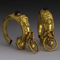 Etruscan earrings, 4th-3rd c BCE.