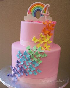 Butterflies cake little girl birthday